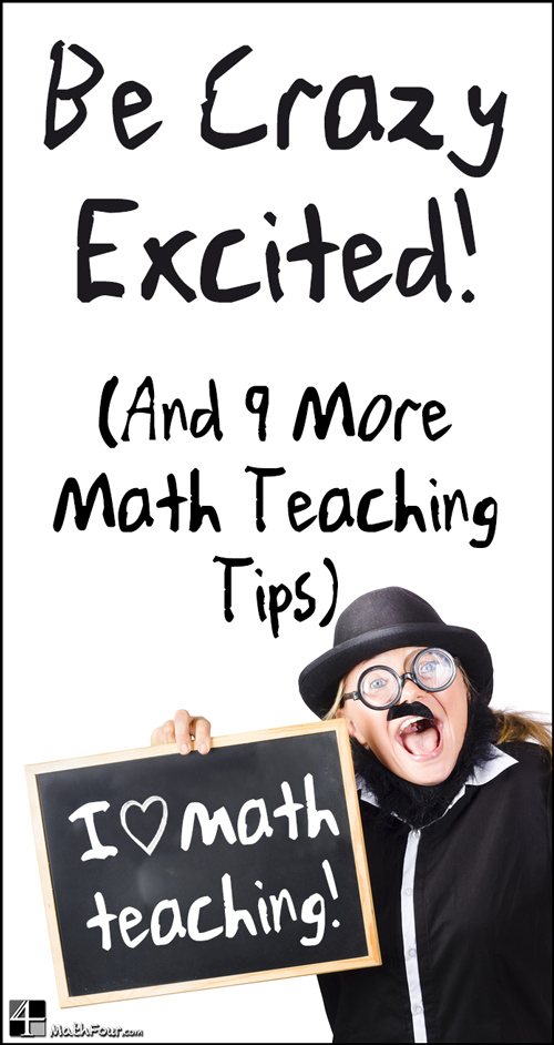 10 Tips for Teaching Math from veteran math educator Bon Crowder