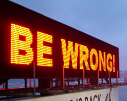 Be Wrong! Sign