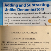 Adding Fractions – Then & Now