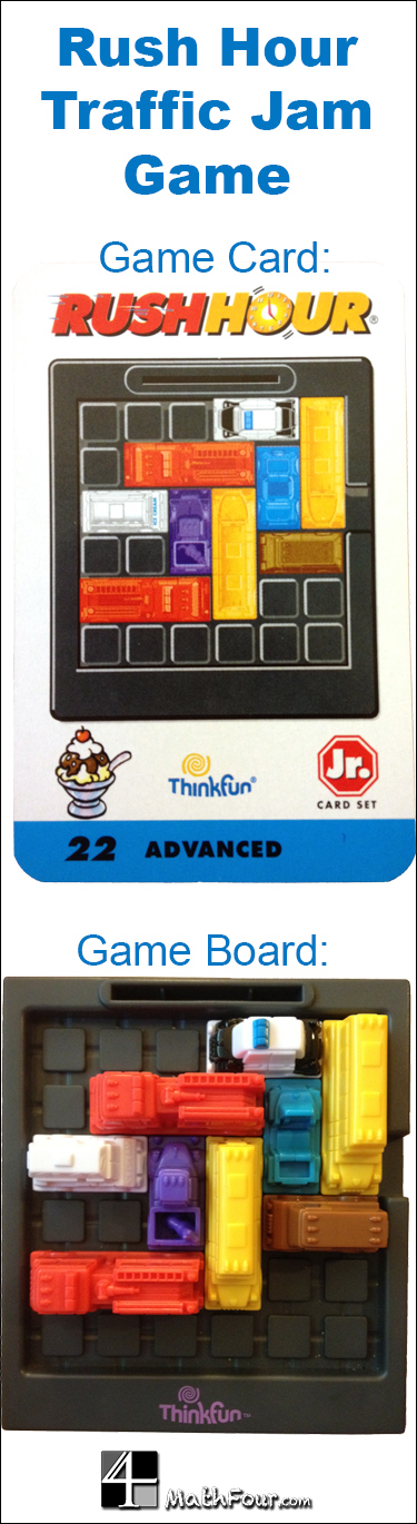 Some amazing math found in the @ThinkFun game of Rush Hour! MathFour.com
