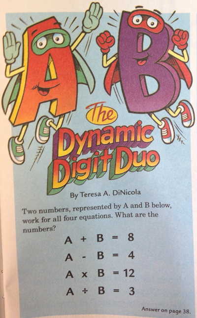 Highlights Magazine Math Puzzle - More than Meets the Eye - MathFour