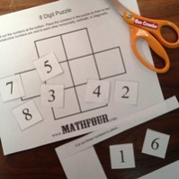 8 Digit Puzzle – Rules, Downloadable and Questions to Ponder