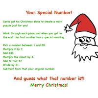 Personalized Number Puzzle Gift
