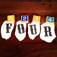 Here are some variations on the number 4. Some are nice, some are a little freaky. #math #numbers