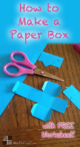How to Make a Paper Box - Free Download! - MathFour