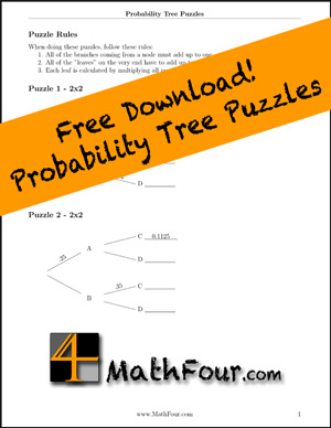 math worksheet : probability tree diagrams as puzzles!  mathfour : Math Tree Diagram Worksheet