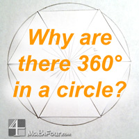 Do you ever wonder why there are 360 degrees in a circle? Here's why - along with a FREE Download to help you teach it! http://mathfour.com/?p=9982