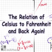 Fahrenheit to Celsius – Graphically!