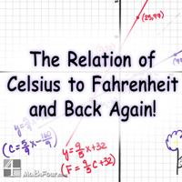The conversion from Celsius to Fahrenheit and back again can be strange. One way to understand it is on a graph. And you can use this to teach some linear algebra too! http://mathfour.com/?p=9943
