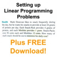 Linear Programming Problems – How to Set Them Up