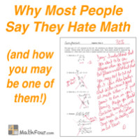 Why Most People Say They Hate Math