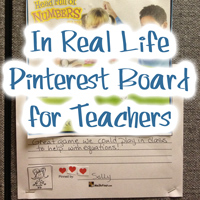 Real Life Pinterest Board for Teachers