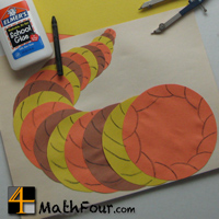 Thanksgiving Math Craft: Concentric Circles Cornucopia