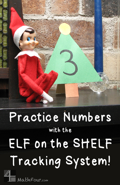 Christmas number practice - using ELF on the SHELF or the Advent Tradition