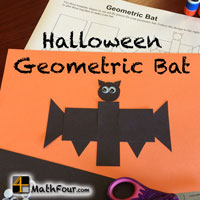 Halloween Geometric Bat – FREE DOWNLOAD
