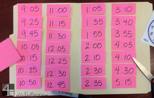 Elapsed Time Differentiated Worksheets - MathFour