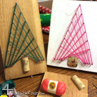 Parabola Tangent Line Christmas Tree Craft (FREE DOWNLOAD)