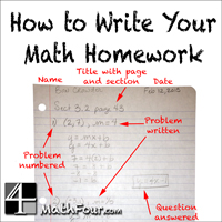 How to Write Your Math Homework