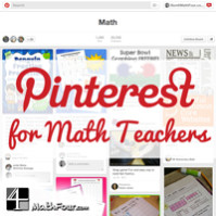 Pinterest for Math Teachers