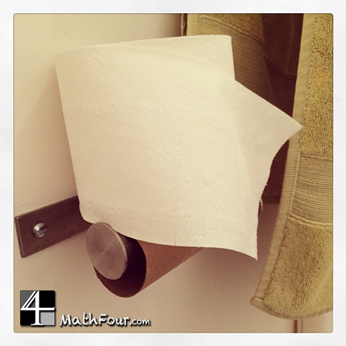 What can you ask about the math in toilet paper?