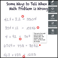 Some Ways to Tell When a Math Problem is Wrong