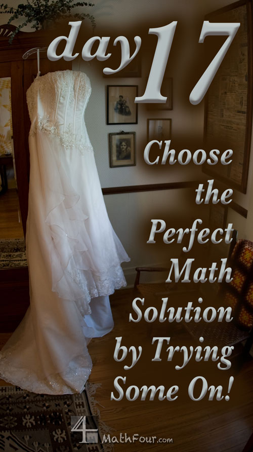 Many math problems boil down to being a choice between two things. Why not try them both out?