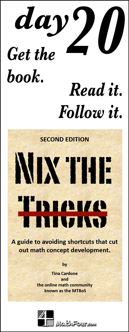 Research shows that trying to memorize tricks is a bad idea. So what do you do instead? Read the book Nix the Tricks - and follow it!