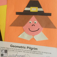 Thanksgiving Math Craft: Geometric Pilgrim