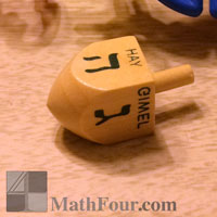 Hanukkah Math – Playing the Dreidel Game