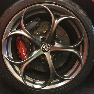 The beautiful Alfa Romeo Giulia wheel can be graphed!