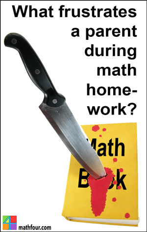 Do you know what frustrates a parent during math homework? Are you a frustrated parent? Tell me about it here...