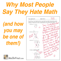 Why Most People Say They Hate Math - MathFour I Hate Math Book